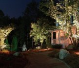 Creative Garden Spaces Inc, Oak Ridge NC, night lighting, landscape lighting