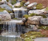 Creative Garden Spaces Inc, water feature, koi pond, natural waterfall